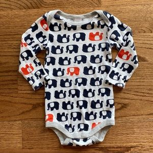 🆕 Nordstrom Baby elephant long sleeved onesie